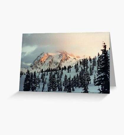 Sunset on Mt. Shuksan. Greeting Card