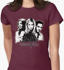 A Trio of Scoobies (Willow, Buffy & Xander) Women's Fitted T-Shirt