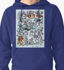 Cartoon Fishies Pullover Hoodie