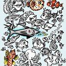 Cartoon Fishies  by Ameda