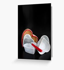 Passionated 4 Tableware Greeting Card