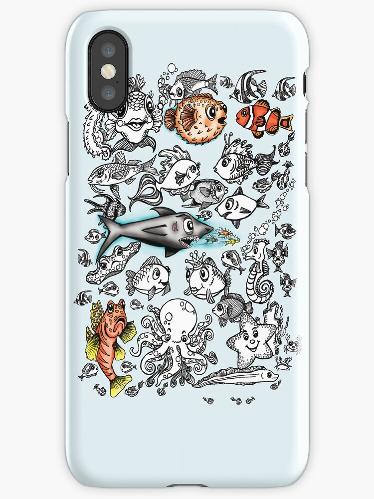 Cartoon Fishies IPhone Case by Ameda