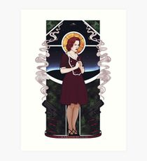 Dana Scully Art Nouveau Art Print
