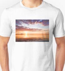 Pink and Gold Morning Zen - Toronto Skyline Impressions Unisex T-Shirt