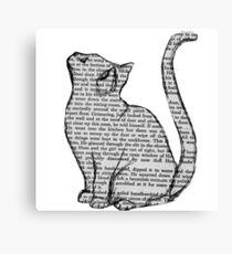 Lienzo libros y gatos y libros y gatos