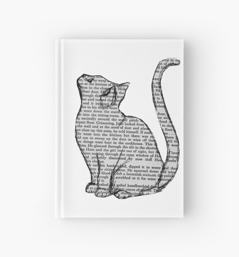 books and cats and books and cats by Audrey Metcalf
