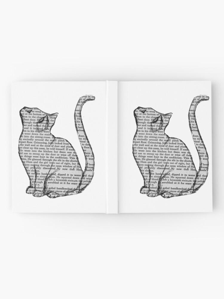 Alternative Ansicht von Bücher und Katzen und Bücher und Katzen Notizbuch