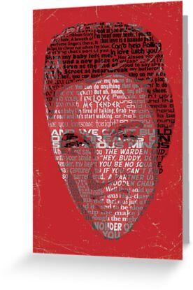 Typographic Icons - Elvis Presley by Ben Rhys-Lewis