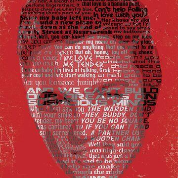 Typographic Icons - Elvis Presley by oSYZYGYo