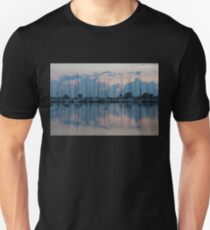 Pink and Blue Peace - Still Sailboat Reflections  Unisex T-Shirt