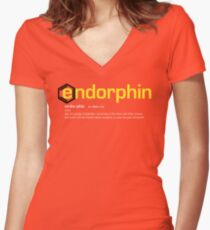 Endorphin Dictionary Women's Fitted V-Neck T-Shirt