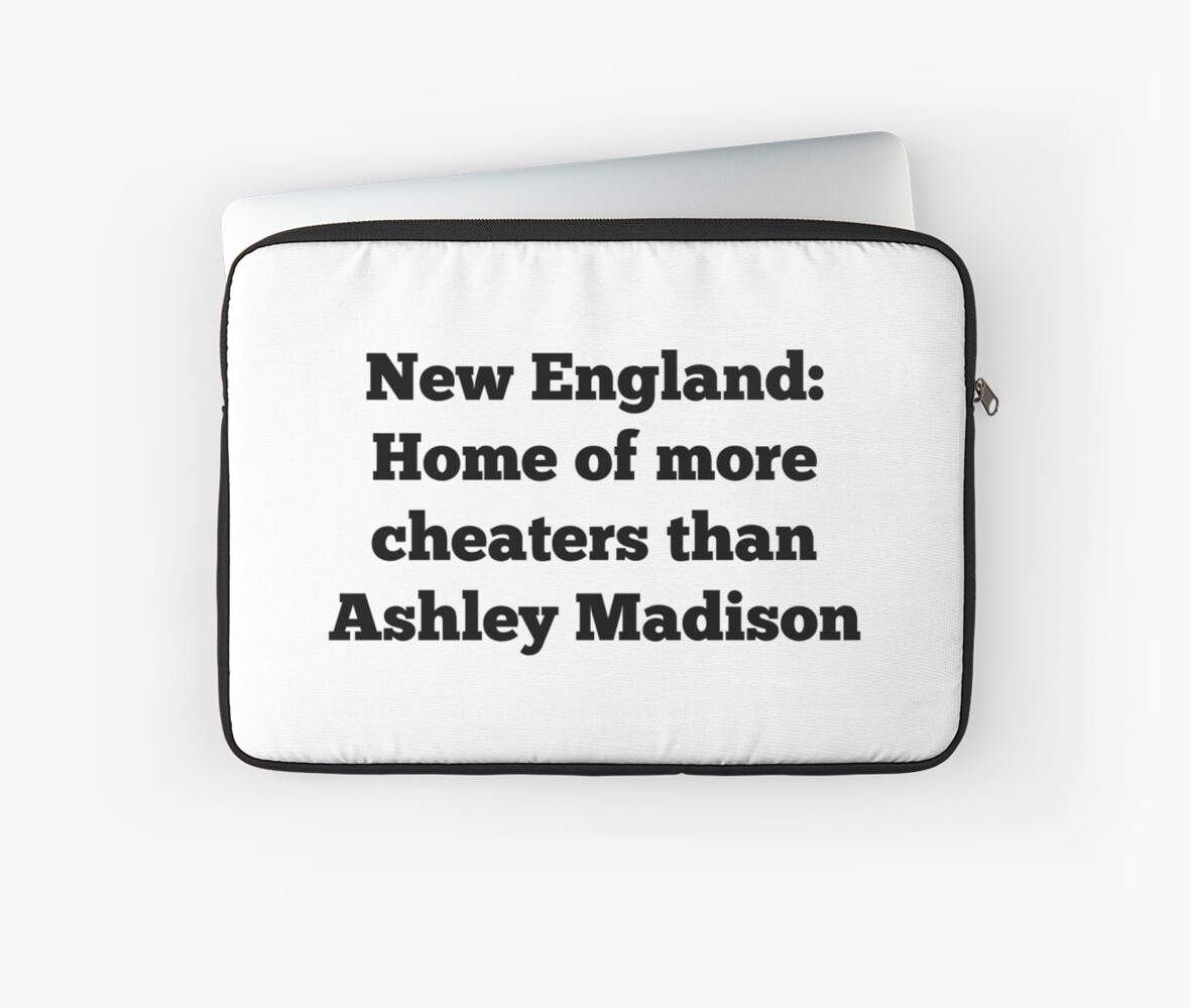 New Englandashley Madison Laptop Sleeves By Nyah14 Redbubble