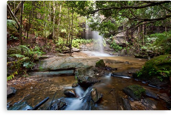 Adelina Falls, Lawson NSW by Malcolm Katon