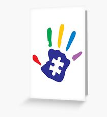 Colorful Autism Hand Greeting Card