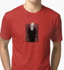 Anonymous revolution without blood ? small 1 Tri-blend T-Shirt
