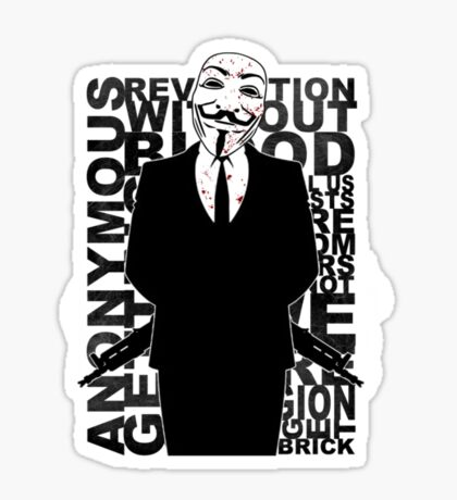 Anonymous revolution without blood ? small 1 Sticker