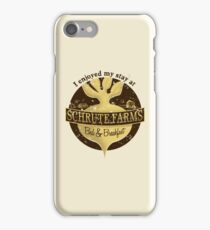 I enjoyed my stay at Schrute Farms (Brown) iPhone Case/Skin