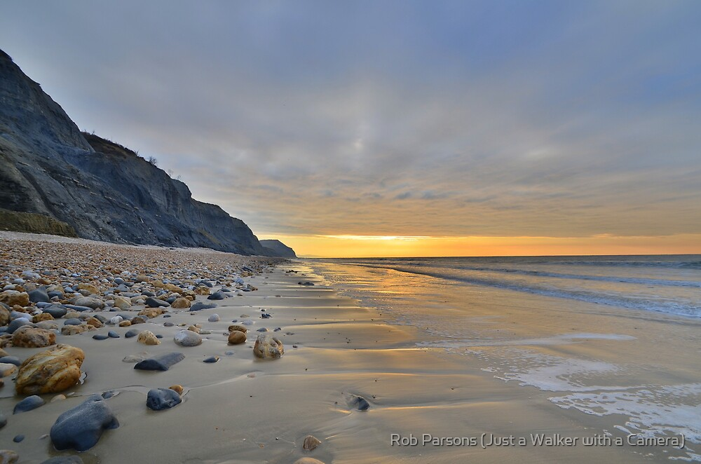 Dorset: Empty Sands at Charmouth by Rob Parsons