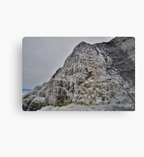 Dorset: Frozen Cliff at Charmouth Canvas Print