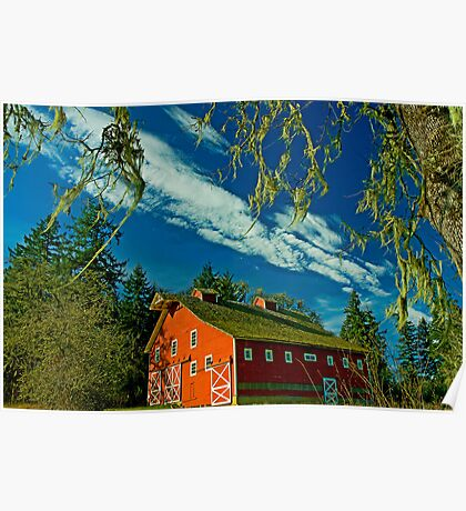 My Red Barn Poster