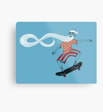 The Ancient Skater, Forever Skate ukiyo e style Metal Print
