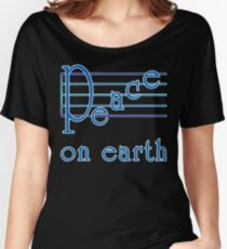 Musical Scale Peace on Earth  Women's Relaxed Fit T-Shirt