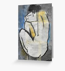 woman from behind Greeting Card