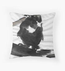 Sumi Bird Throw Pillow