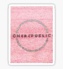 OneRepublic Lyric Art Sticker