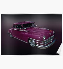 Crazy Colored Chrysler Poster