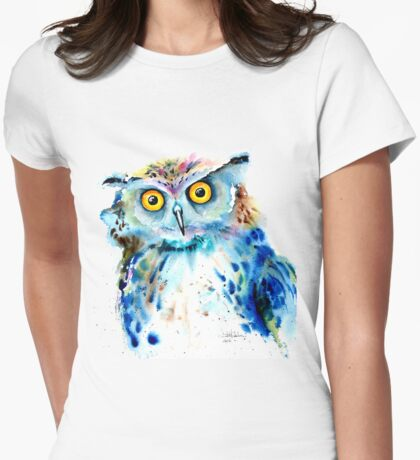 """""""Owl"""" Womens Fitted T-Shirt"""