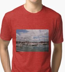 Quiet Marina Reflections Tri-blend T-Shirt