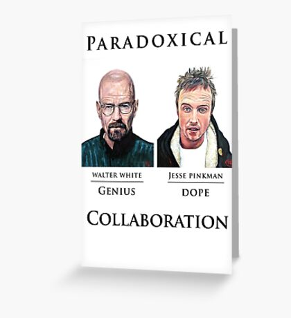 Paradoxical Collaboration Greeting Card