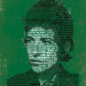 Typographic Icons - Bob Dylan by oSYZYGYo