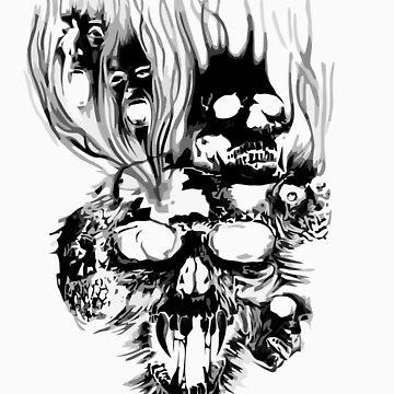 Skulls in death by xoguar
