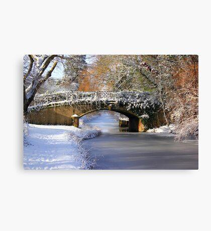 Winter at Lady's Bridge Canvas Print