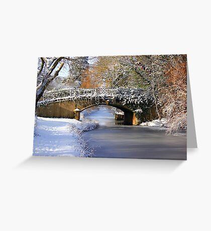 Winter at Lady's Bridge Greeting Card