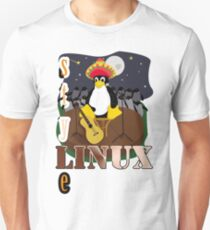 Funny night TUX (linux) Unisex T-Shirt
