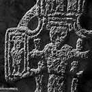 Irish High Cross in black and white, St Mullins, County Carlow, Ireland by Andrew Jones