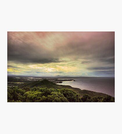 Forster Sunset Rainbow Photographic Print