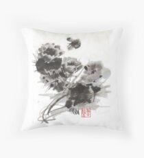 Desert Cactus Blooms by William Preston Throw Pillow