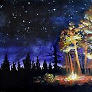 Bonfire in the Woods by Tanya Nevin