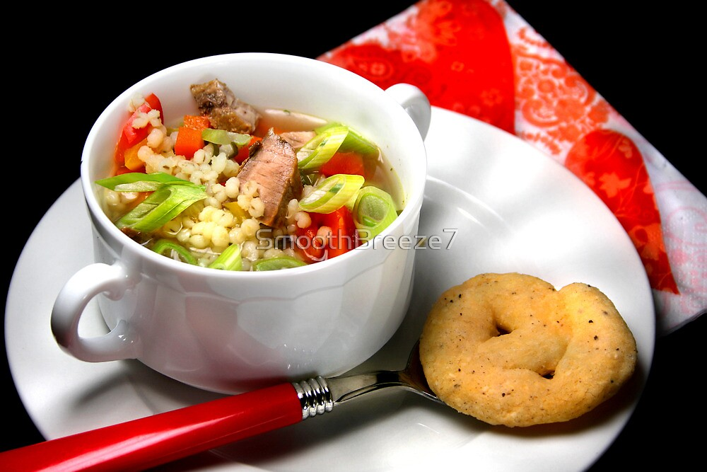 Pearl Barley, Pepper and Soup by SmoothBreeze7