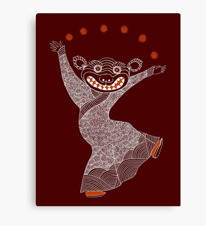 Ghost Tiger Juggler with Red Shoes Canvas Print