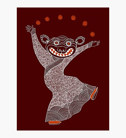 Ghost Tiger Juggler with Red Shoes Photographic Print