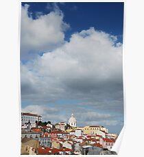 Phanteon or Santa Engracia church in Lisbon Poster