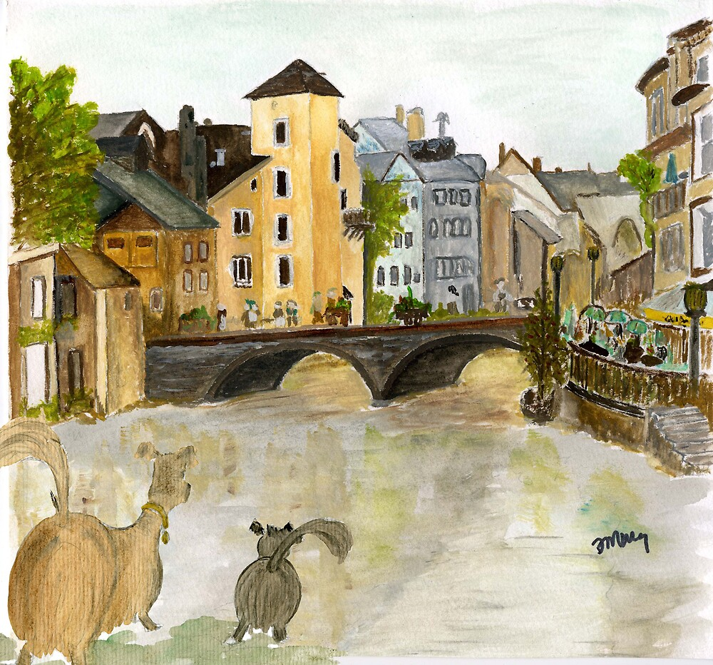 Annecy River by brushmarq