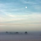 Snow, mist and moon by John Dunbar