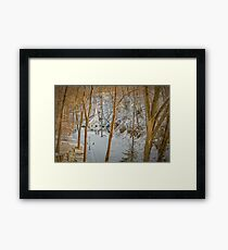 The Church in the Canyon Framed Print