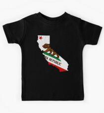 California State Bear Flag (vintage distressed design) Kids Clothes